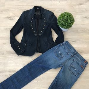 7 For All Mankind Blazer- Navy Blue!